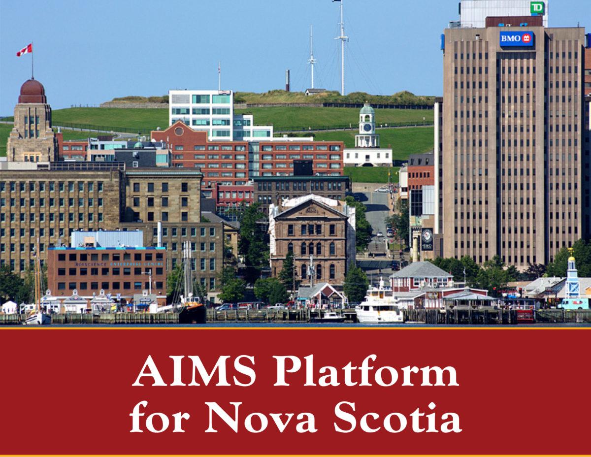 AIMS Platform for Nova Scotia